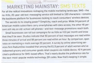 Marketing Mainstay SMS texts