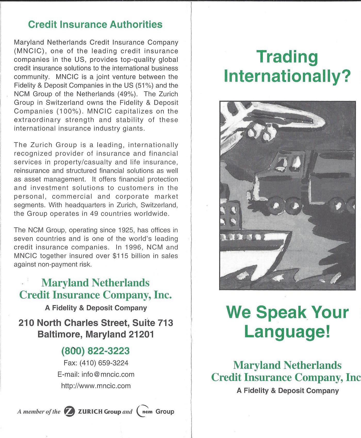 Trading Internationally – Maryland Netherlands Credit
